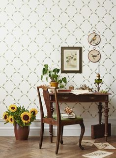 Welcome to Sandberg Wallpaper. We are a Swedish design company that specialises in wallpapers and home accessories. More Wallpaper, Flower Wallpaper, Wallpaper Ideas, Swedish Design, Scandinavian Home, Designer Wallpaper, 18th Century, Decor Styles, Shabby Chic