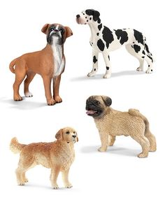Another great find on #zulily! Adult Dog Figurine Set #zulilyfinds