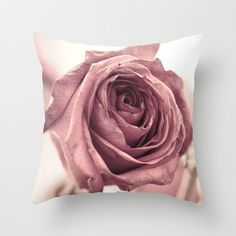 Dusky Rose pillow home decor cushion fine art by LegendsofDarkness, $34.95