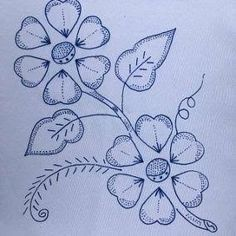 Hand Embroidery Design Patterns, Hand Embroidery Tutorial, Hand Embroidery Flowers, Hawaiian Quilt Patterns, Hawaiian Quilts, Seed Bead Patterns, Cross Stitch Patterns, Pyrography Patterns, Flower Silhouette