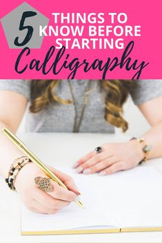 Every once in a while I wish I could go back and give my beginner self a few pieces of calligraphy advice. Here are 5 things I'd say. Calligraphy Tutorial Beginners, Calligraphy For Beginners Worksheets, Modern Calligraphy Tutorial, Calligraphy Lessons, Hand Lettering For Beginners, Hand Lettering Tutorial, Calligraphy Practice, How To Write Calligraphy, Calligraphy Handwriting