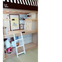 Rikokkumamaさんの、壁/天井,ダイソー,DIY,カフェ風,子どもスペース,押し入れ,ベビーサークル,seria,壁紙屋本舗,転写シール,押し入れこどもスペース,のお部屋写真