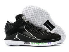 2018 Air Jordan 32 Retro officielles Chaussues Nike La culture Jordan Pour  Homme Noir Blanc
