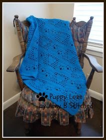 A Stitch At A Time for Amy B Stitched: PUPPY LOVE Crochet Afghan Pattern - FREE