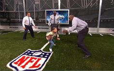 9-year old girl football player on ESPN's morning show - she's not afraid of anyone!