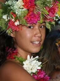 polynesie couronne fleurs -