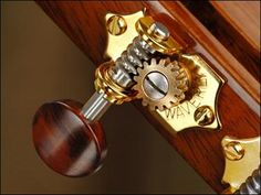Waverly Guitar Tuners with Snakewood Knobs for Slotted Pegheads, Gold, 3L/3R | stewmac.com  $210