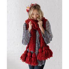 Chunky scarf XXL tassels