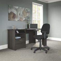 Hillsdale Corner Computer Desk and Chair Set