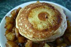 Pineapple Upside-Down Pancakes via @Diabetic Foodie
