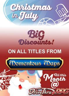 Christmas has arrived ridiculously early in July!   All my RPG maps are on sale, so eat drink and be merry this summer!  #RPGMap #Pathfindermap #momentousmaps   rpg map | rpg map assets | rpg map dungeon | rpg map city | Momentous Maps RPG | DnD | Dungeon Masters |  Pathfinder | Battle maps | Tabletop RPG Maps | D&D Maps and RPG Dungeons for Roll20 & Tabletop | RPG Battle Maps for Dungeon Masters |