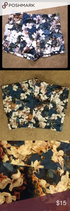 Floral Silk Shorts EUC, only worn a couple of times. No holes or stains. Pet/smoke free home. Forever 21 Shorts