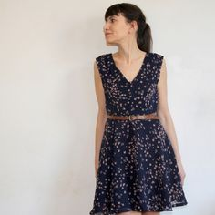 Reglisse dress deer & doe patterns. made with a light fabric and without neckline. breezy!