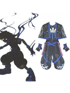 Kingdom Hearts 2 Anti Sora Cosplay Outfits Costumes