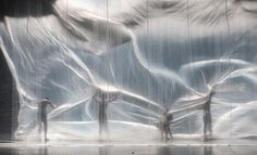 Xóchitl González Quintanilla - Ex-Stasis Second choreographic picture with smooth plastic curtain