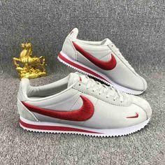 2396f76ae62471 Nike Classic Cortez Nylon Embroidery White Red