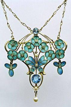 Jugendstil Butterfly Pendant ~ 1900 ~ LEVINGER & BISSINGER
