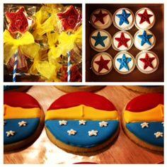 Wonder Woman party desserts