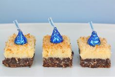 Chocolate Coconut Cream Cheese Bars by Made With Pink, via Flickr