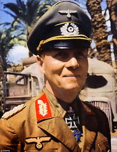 WWII German general Erwin Rommel refused to comply with Hitler's order to execute Jewish POWs. Being against the politics, Erwin Rommel was serving for Hitler until he was promoted to Panzer Unit Commander. Ww2 History, Military History, Afrika Corps, Erwin Rommel, Field Marshal, Ww2 Photos, Photographs, German Uniforms, German Army