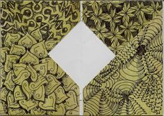 Drawn by Sandra Strait, using her Tangle Pattern: Zingiber.