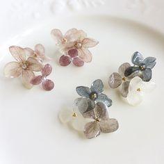 秋色〜 bouquet earring (モーブピンク)