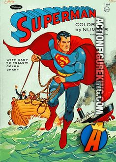 Superman 1964 Whitman 64-page coloring book (National Periodical ...