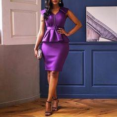 African Fashion Dresses, African Dress, White Bandage Dress, Sheath Dress, Bodycon Dress, Office Dresses For Women, Plain Dress, Purple Dress, Summer Dresses