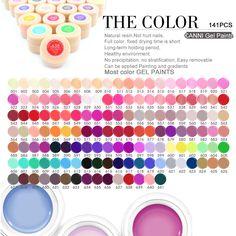 1 개/몫 CANNI 네일 아트 디자인 높은 마진 UV 젤 주도 젤 래커 141 색 젤 페인트
