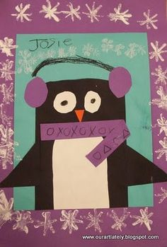 Kindergarten penguins from we heart art blog