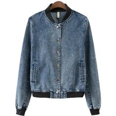 Chicnova Fashion Boy Embroidered Denim Jacket (1,100 PHP) ❤ liked on Polyvore featuring outerwear, jackets, embroidery jackets, embroidered denim jacket, embroidered jacket, embroidered jean jacket and blue jackets