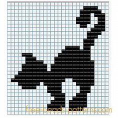 Halloween black cat free Hama Beads fuse beads pattern for children