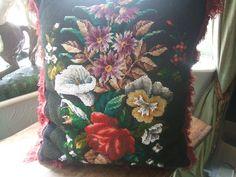 Victorian bead work cushion