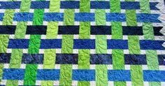 """More quilts made by one of my prolific sisters. Aren't these """"woven ribbons"""" cool?    This is a good way to use up scrap strips!    This is..."""