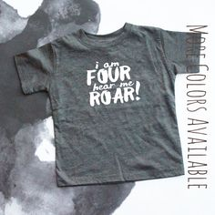 I'm Four Hear Me Roar with COLOR options Fourth by EliandRyn