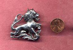 Cini Sterling Leo the Lion Zodiac Pin or Pendant