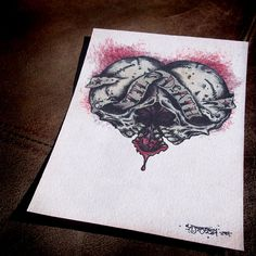 Hey, I found this really awesome Etsy listing at https://www.etsy.com/listing/122425180/gothic-love-til-death-double-skull-print