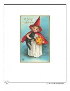 vintage halloween 231x300 Printable Vintage Halloween Cards -- five more at the site