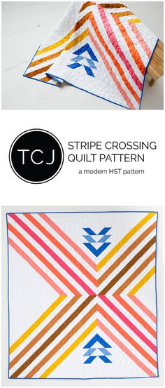 Stripe Crossing Quilt Pattern available now!