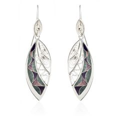 sterling silver, cloisonne enamel and filigree hand made earrings