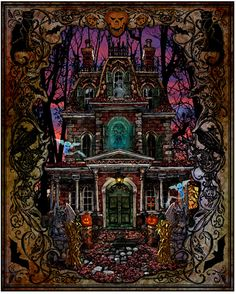 Fright Night - Painting by Lewis T. Johnson. Chart Design by Michele Sayetta for Heaven and Earth Designs. (Design is now retired.)