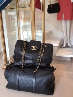 CHANEL SUPERMODEL TOTE & BOSTON DUFFLE BAG-been to this consignment shop in The Marais and they have amazing stuff. It's called Yukiko on 97 Rue de Vielle Temple