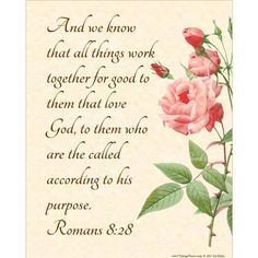 ALL THINGS GOOD  Romans 8:28 Christian Home Decor by VintageVerses