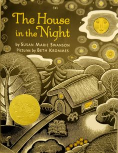 The House in the Night - Great example of cross hatching- make own scratch board