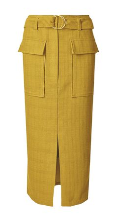 Size 8 RRP BNWOT M/&S Cotton Blend Belted Pencil Midi Skirt in Colbalt £35.00