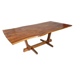 George Nakashima Conoid Dining Table | From a unique collection of antique and modern dining room tables at https://www.1stdibs.com/furniture/tables/dining-room-tables/