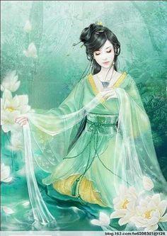 http://www.digu.com/pin/tqxplk1o5ewdo #green #illustration #chinese