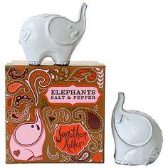 Jonathan Adler Elephant Salt and Pepper Shakers