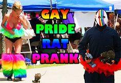 Gay Pride Rat Prank