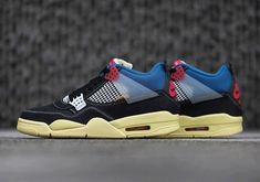 The Union LA x Air Jordan 4 Off Noir Releases Tomorrow Overseas Jordans Sneakers, Air Jordans, Jordan 4, Kicks, Footwear, Shoes, Zapatos, Shoe, Shoes Outlet
